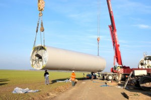 Normandy,,France,,November,2014.,Installing,Of,Wind,Turbines,With,A